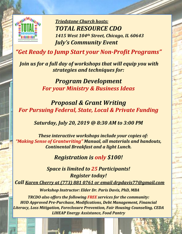 Total Resource Community Development Organization July 2019